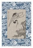 Asian Crane Panel I Giclée-tryk