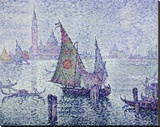 The Green Sail, Venice, c.1902 Stretched Canvas Print by Paul Signac