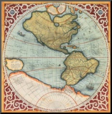 Terra Major I Mounted Print by Gerardus Mercator