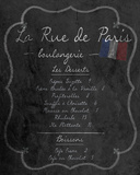 French Menu II Print