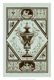 Pergolesi Urns in Celadon I Giclee Print by Michel Pergolesi