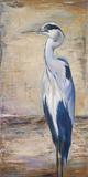 Blue Heron II Poster von Patricia Quintero-Pinto