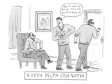 Kappa Delta Cosa Nostra: 'Don't worry, boss, he's as good as hazed.' A Maf… - New Yorker Cartoon Premium Giclee Print by Danny Shanahan