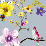 Blossom Birds I Poster by Sandra Jacobs