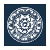 Classic Medallion on Navy II Giclee Print