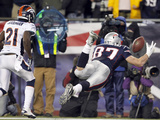 New England Patriots and Denver Broncos: Rob Gronkowski and Andre' Goodman Photographic Print by Elise Amendola