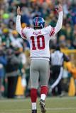 Green Bay Packers and New York Giants: Eli Manning Poster av Mike Roemer