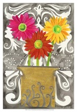 3 Tin Flowers Print by Kaeli Smith
