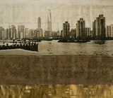 Texture Embellished Cityscape II Poster by Tang Ling