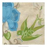 Songbird Fresco II Giclee Print by Erica J. Vess