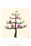 Orchard Owls V Print by Erica J. Vess