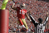 San Francisco 49ers and New Orleans Saints: Michael Crabtree Plakat av Ben Margot
