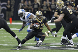 Detroit Lions and New Orleans Saints: Darren Sproles Photographic Print by Gerald Herbert