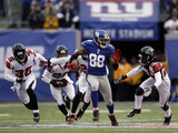 Atlanta Falcons and New York Giants: Hakeem Nicks Bilder av Matt Slocum