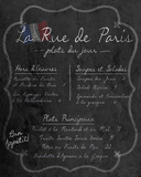 French Menu I Prints