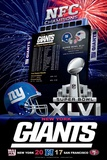 New York Giants 2012 Conference Champ Plakater