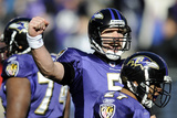 Baltimore Raven and Houston Texans: Joe Flacco Photographic Print by Nick Wass