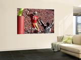 San Francisco 49ers and New Orleans Saints: Michael Crabtree Wall Mural by Ben Margot