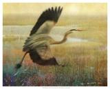 Foggy Heron I Prints by Chris Vest