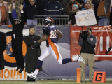 Denver Broncos and Pittsburgh Steelers: Demaryius Thomas Poster by Joe Mahoney