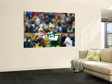 Green Bay Packers and New York Giants: Aaron Rodgers Wall Mural by Jeffrey Phelps