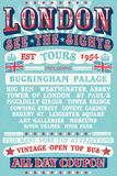 London Tours '54 Affiches
