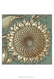Sunflower Woodblock IV Prints