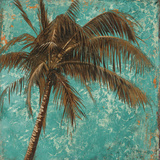 Palm on Turquoise I Posters by Patricia Quintero-Pinto