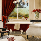 Red Chandelier Bath II Prints by Elizabeth Medley