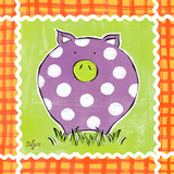 Familiar Friends III (Pig) Print by Rebecca Lyon