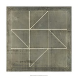 Geometric Blueprint IV Prints