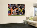 Denver Broncos and Pittsburgh Steelers: Demaryius Thomas and Ryan Mundy Wall Mural by Joe Mahoney