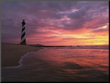 The 198-Foot Tall Lighthouse on Cape Hatteras Mounted Photo by Steve Winter