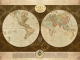Map of the World Prints by Elizabeth Medley