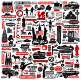 New York In A Nutshell Prints by Janie Secker