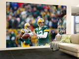 Green Bay Packers and New York Giants: Aaron Rodgers Wall Mural – Large by Jeffrey Phelps