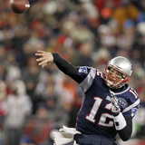 New England Patriots and Denver Broncos: Tom Brady Photographic Print by Elise Amendola
