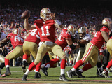 San Francisco 49ers and New Orleans Saints: Alex Smith Fotografisk trykk av Ben Margot