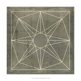 Geometric Blueprint VII Giclee Print