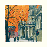 Everyone Welcome, St Martin in the Fields, London Poster von Susan Brown