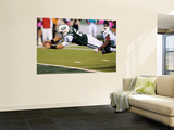 New York Jets and Miami Dolphin: Mark Sanchez and Reshad Jones Wall Mural by Bill Kostroun