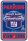 New York Giants Super Bowl XLVI Champion Parking Sign Wall Sign