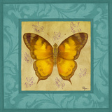 Colorful Wings Square II Print by Vivien Rhyan