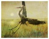 Foggy Heron II Poster von Chris Vest