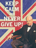 Keep Calm Brit I Poster by  The Vintage Collection