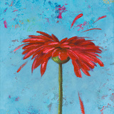 Blue Tiny Flower Square II Posters by Patricia Quintero-Pinto