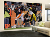 Denver Broncos and Pittsburgh Steelers: Demaryius Thomas and Ryan Mundy Veggmaleri – stort av Joe Mahoney