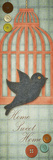 Fabric Bird I Kunst