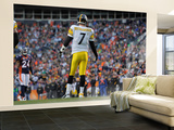 Denver Broncos and Pittsburgh Steelers: Ben Roethlisberger Wall Mural – Large by Jack Dempsey