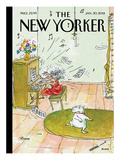 Winter Blues - The New Yorker Cover, January 30, 2012 Premium Giclee Print by George Booth
